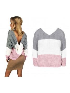 Oversize'owy sweterek