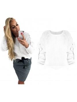 Sweterek z wiązaniem