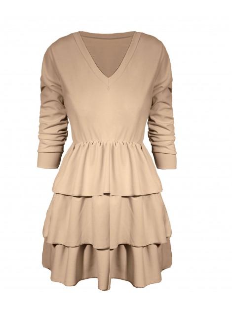 Mini sukienka z falbanami