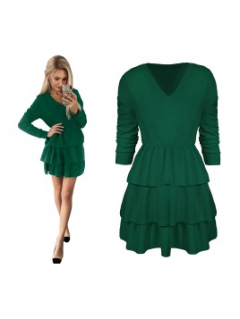 Mini sukienka z falbanami S/M