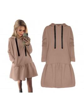 Sukienka oversize z kapturem S/M