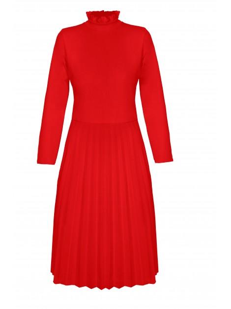 Plisowana sukienka