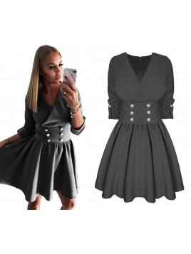 Rozkloszowana sukienka z guzikami