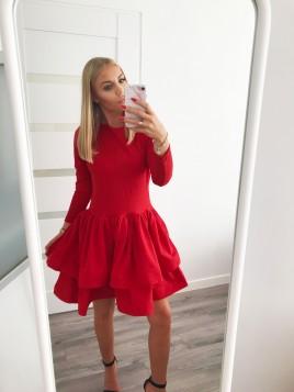 Rozkloszowana sukienka z dwuwarstwową spódniczką