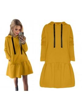 Sukienka oversize z kapturem L/XL