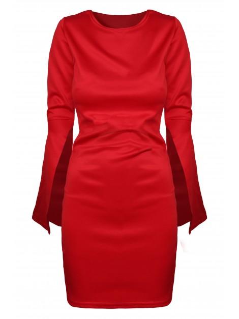 Elegancka sukienka z rozciętymi rękawami L/XL