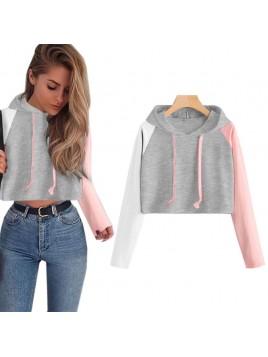 Bluza z kapturem crop-top L/XL