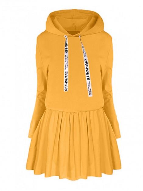 Dresowa sukienka z kapturem L/XL