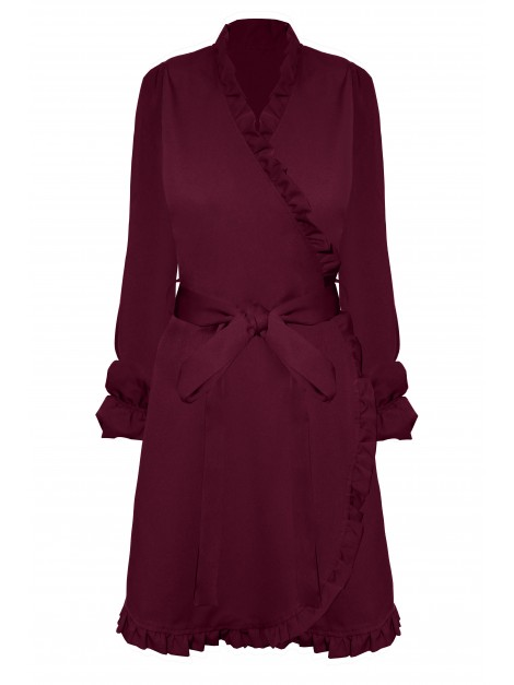 Sukienka wiązana w pasie