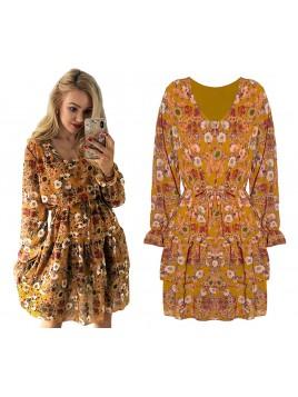 Sukienka w kwiatowy nadruk
