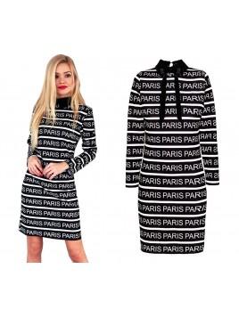 """Sukienka z napisem """"PARIS"""""""