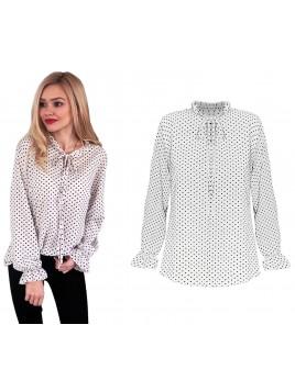 Delikatna bluzka w groszki L/XL