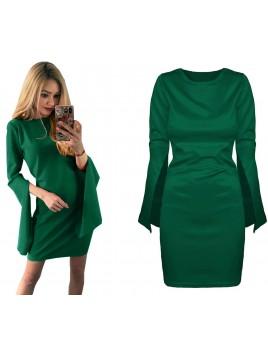 Elegancka sukienka z rozciętymi rękawami S/M