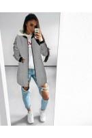 Flauszowy płaszcz S/M