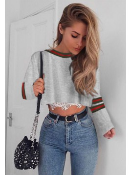 Bluza crop-top al'a gucci