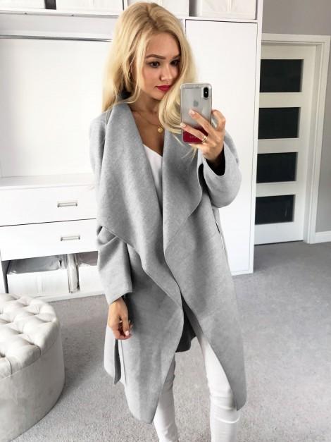 Elegancki płaszczyk z wiązaniem