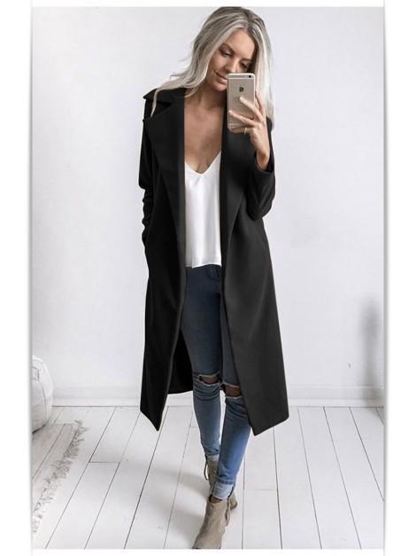Elegancki płaszczyk z flauszu z kieszeniami