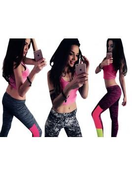 Kolorowe legginsy fitness