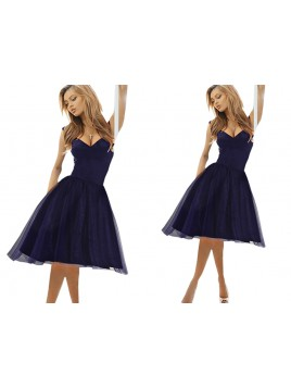 Elegancka rozkloszowana sukienka z tiulową spódniczką