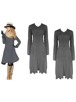 Sweterkowa sukienka midi