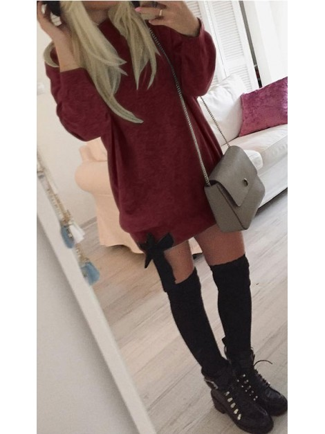 Oversizowa bluza z dziewczęcą kokardą