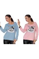 Młodzieżowa bluza z nadrukiem króliczka