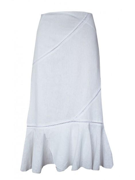 Spódnica maxi z modnym haftem
