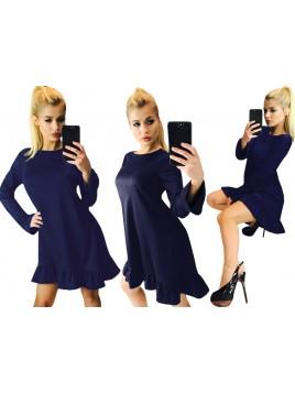 Szałowa mini sukienka z falbaną na dole
