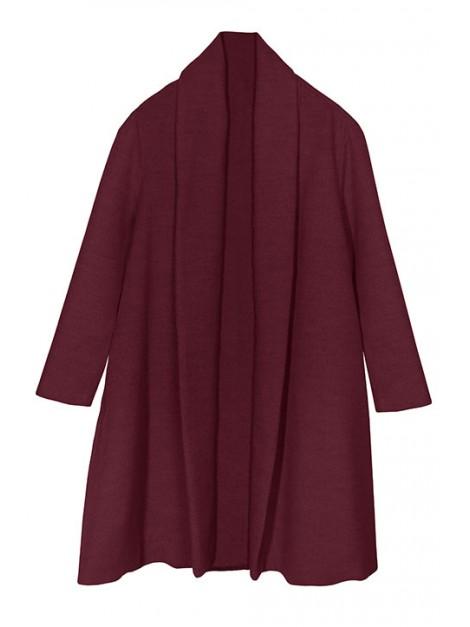 Elegancki płaszcz trapezowy z flauszu