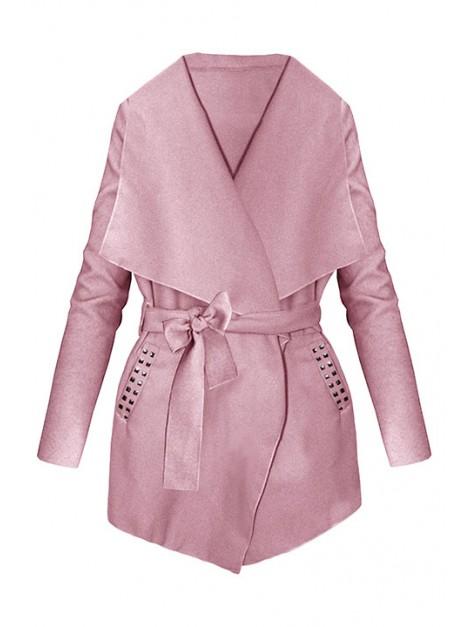 Elegancki mini płaszczyk z flauszu z dżetami