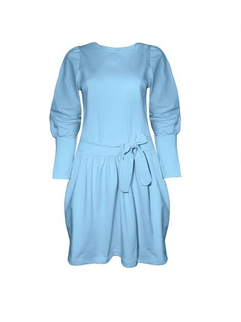 Sukienka z kokardą na biodrach