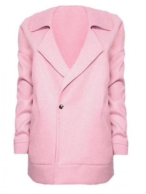 Krótki płaszcz flauszowy