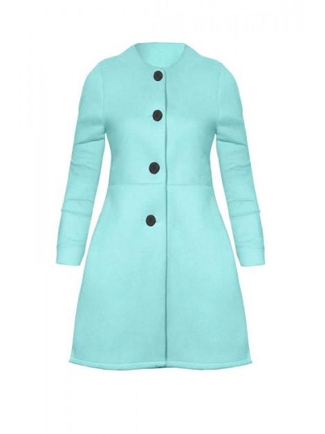 Elegancki płaszcz flauszowy z guzikami