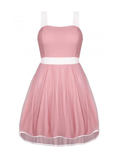 Rozkloszowana sukienka z tiulową spódniczką