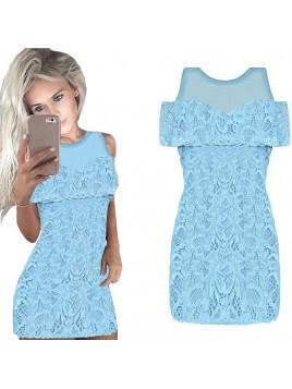 Dopasowana koronkowa sukienka hiszpanka