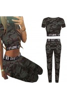 Komplet moro - crop top + legginsy