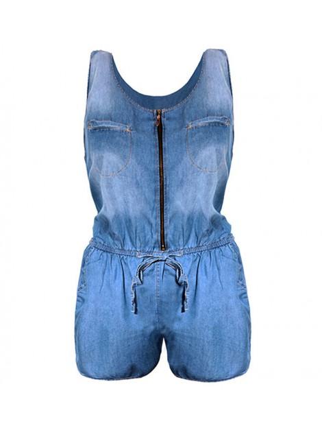 Kombinezon jeans'owy z kieszeniami