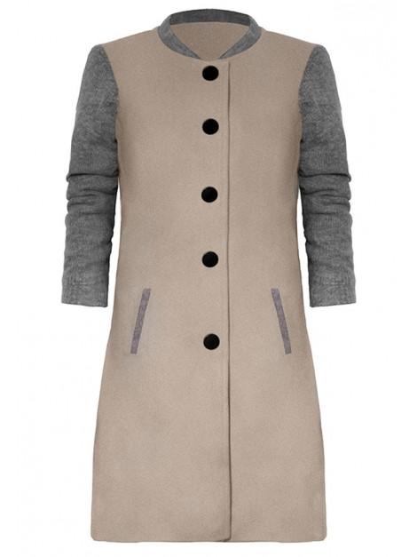 Klasyczny flauszowy płaszcz