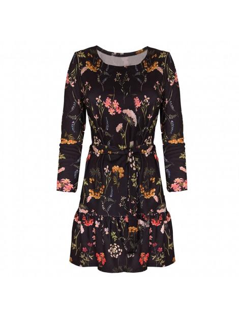 Mini sukienka w print kwiatowy