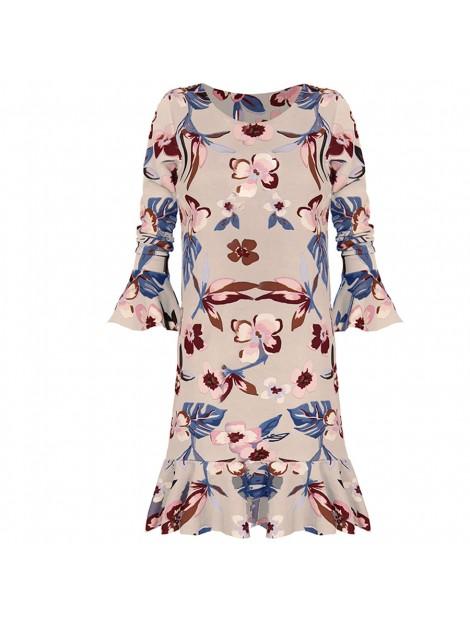 Klasyczna sukienka z wzorem kwiatowym
