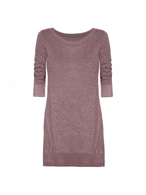Oversize'owa asymetryczna bluzka-tunika