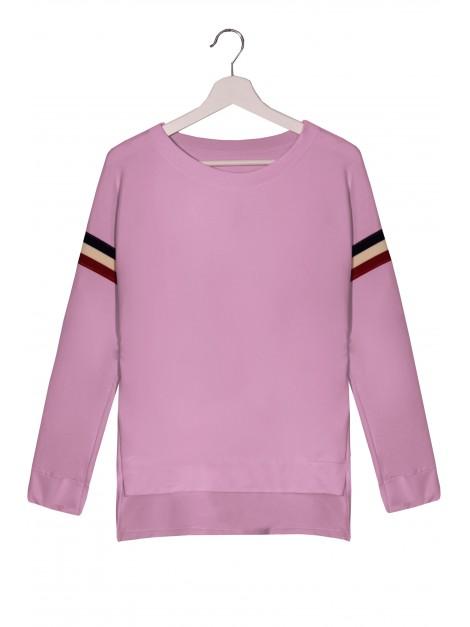 Asymetryczna bluza z modnymi wstawkami - paski a'la Tommy