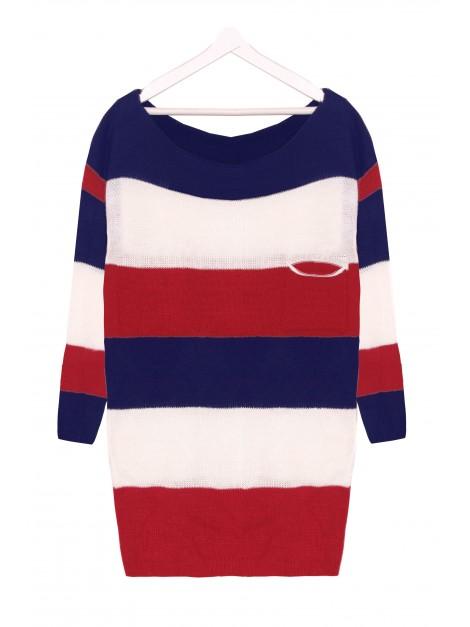 Sweterek w paski oversize Tommy