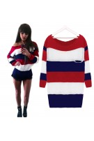 Sweterek oversize w paski