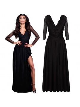 Długa sukienka z rozporkiem
