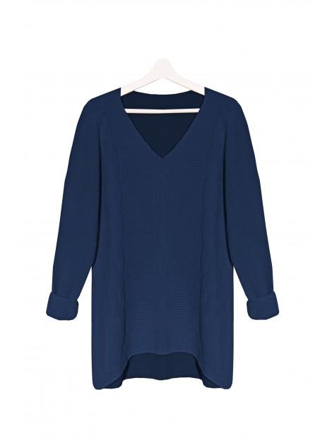 Kobiecy asymetryczny sweterek