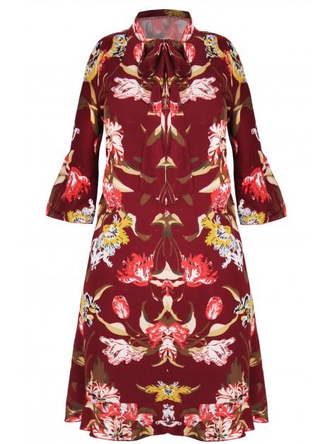 Sukienka z printem kwiatowym