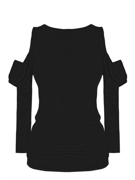 Kobieca bluzka open shoulders z falbaną