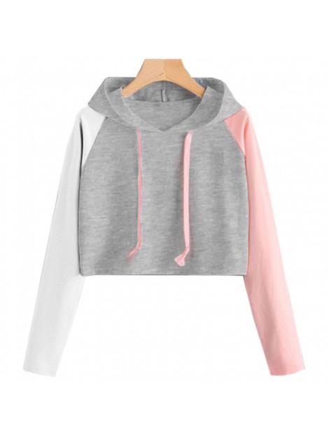 Bluza z kapturem w kontrastowych kolorach