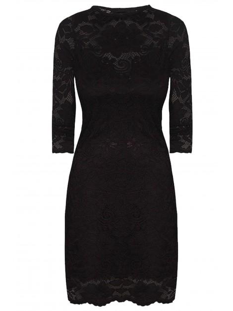 Dopasowana koronkowa mini sukienka